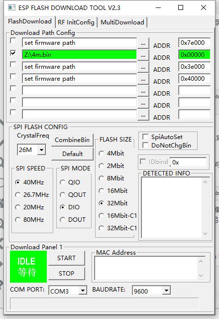 ESP8266 ESP-12E Flash NodeMCU Firmware / 刷NodeMCU固件  7f
